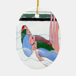 Synchronized Swimming Ceramic Ornament