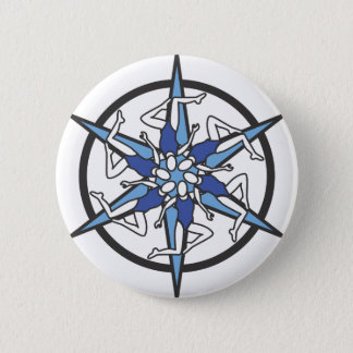 Synchronized Swimming Circle Logo in Blue 2 Inch Round Button