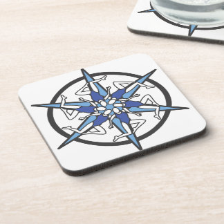Synchronized Swimming Circle Logo in Blue Coaster