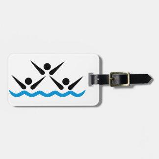 Synchronized swimming bag tag