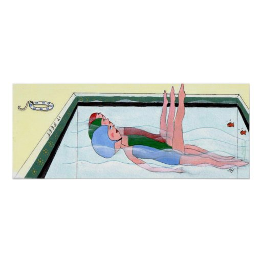 Synchronized Swimming Print