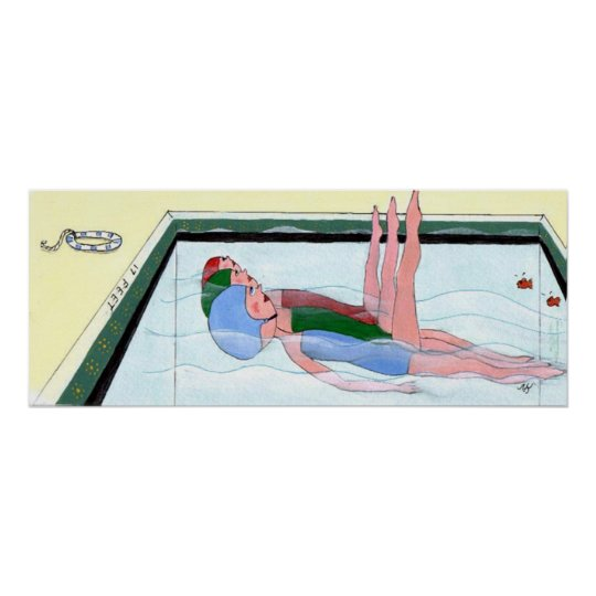 Synchronized Swimming Print