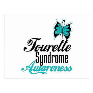 Syndrome de Tourette de conscience de papillon Carte Postale