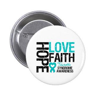 Syndrome de Tourette de foi d amour d espoir Pin's Avec Agrafe
