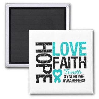 Syndrome de Tourette de foi d'amour d'espoir Aimant Pour Réfrigérateur