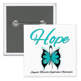 Syndrome de Tourette de papillon d espoir Badge Avec Épingle