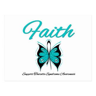 Syndrome de Tourette de papillon de foi Carte Postale