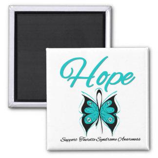 Syndrome de Tourette de papillon d'espoir Magnets