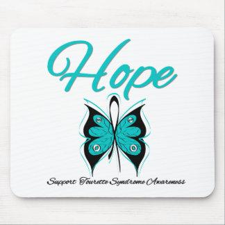 Syndrome de Tourette de papillon d'espoir Tapis De Souris