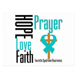 Syndrome de Tourette de prière de foi d'amour Cartes Postales