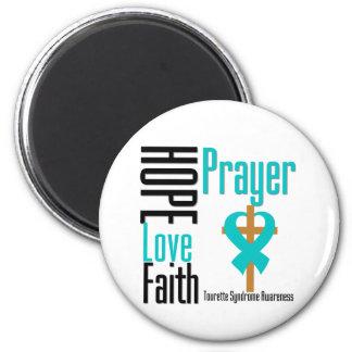 Syndrome de Tourette de prière de foi d'amour d'es Aimant Pour Réfrigérateur