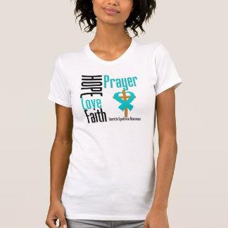 Syndrome de Tourette de prière de foi d'amour Tee-shirts