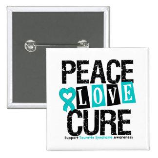 Syndrome de Tourette de traitement d amour de paix Badge Avec Épingle