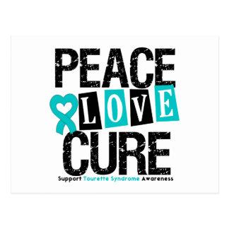 Syndrome de Tourette de traitement d'amour de paix Cartes Postales