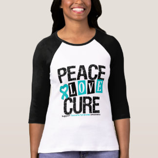 Syndrome de Tourette de traitement d'amour de paix Tshirts