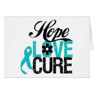 Syndrome de Tourette de traitement d'amour d'espoi Carte De Vœux