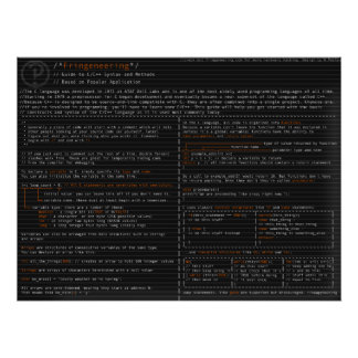 Syntax and Methods in the C langauge Poster