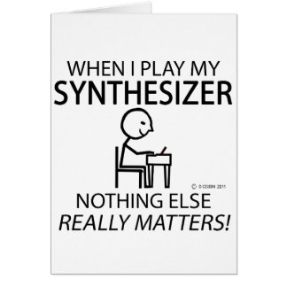Synthesizer Nothing Else Matters Cards