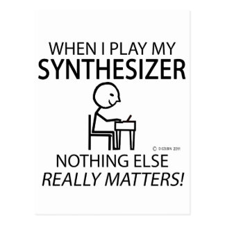 Synthesizer Nothing Else Matters Postcards
