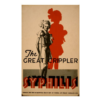 Syphilis Great Crippler Vintage WPA Health Poster