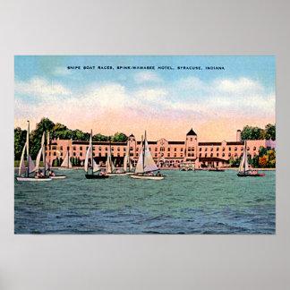 Syracuse, Indiana Spink Hotel on Lake Wawasee Poster