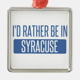 Syracuse Metal Ornament