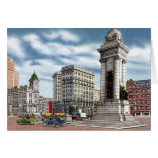 Syracuse New York Clinton Square Card