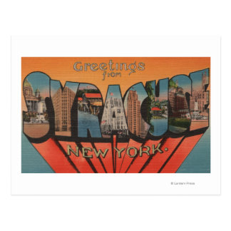 Syracuse, New York - Large Letter Scenes Postcard