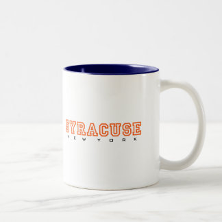 Syracuse, New York - Letters Two-Tone Coffee Mug