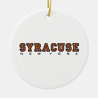 Syracuse, New York - Ltrs2 Ceramic Ornament