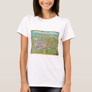 Syracuse New York Map T-Shirt