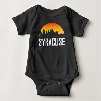 Syracuse New York Sunset Skyline Baby Bodysuit