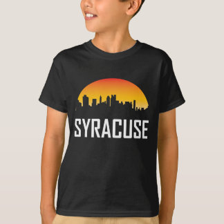 Syracuse New York Sunset Skyline T-Shirt