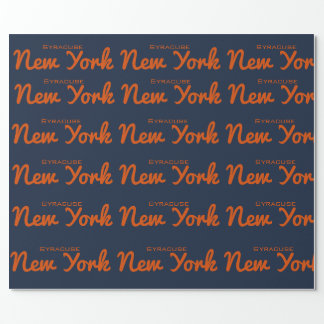 Syracuse, New York  Wrapping Paper