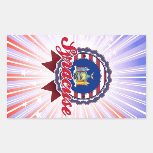 Syracuse, NY Rectangle Sticker