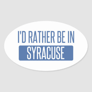 Syracuse Oval Sticker