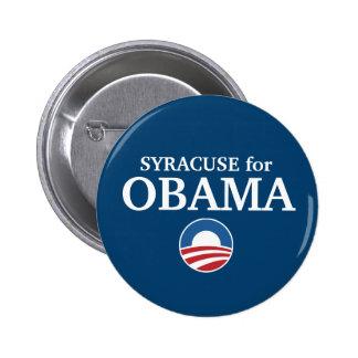 SYRACUSE pour la coutume d'Obama votre ville perso Macaron Rond 5 Cm