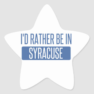 Syracuse Star Sticker