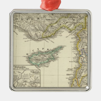 Syria and the neighboring Silver-Colored square ornament