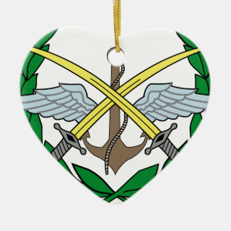 Syria_Armed_Forces_Emblem Ceramic Heart Ornament