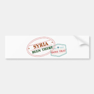 Syria Been There Done That Bumper Sticker