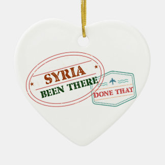 Syria Been There Done That Ceramic Heart Ornament