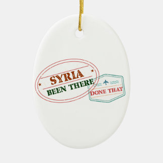 Syria Been There Done That Ceramic Oval Ornament