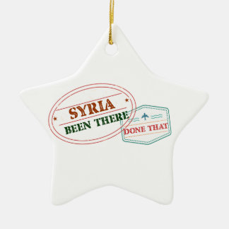 Syria Been There Done That Ceramic Star Ornament