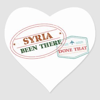Syria Been There Done That Heart Sticker