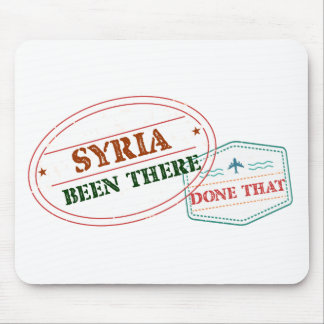 Syria Been There Done That Mouse Pad