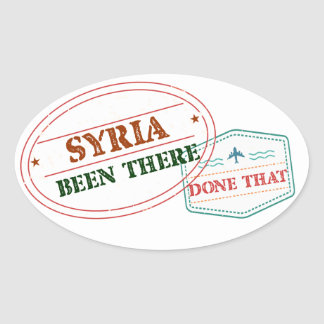 Syria Been There Done That Oval Sticker