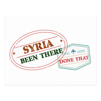 Syria Been There Done That Postcard