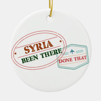 Syria Been There Done That Round Ceramic Ornament