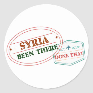 Syria Been There Done That Round Sticker
